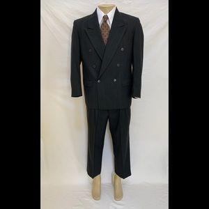 Yves Saint Laurent Sz 44S Double Breasted 2pc Suit